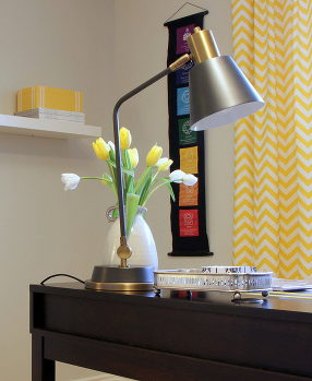 Office, Yellow, Lamp, Oakville Interion Design, Interior Decor