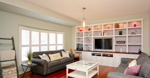 Staging Milton Family Room