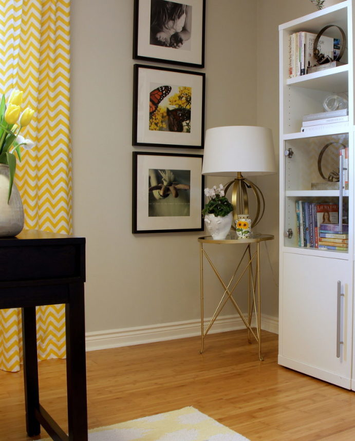 Yellow Office, Livia Drennan Interior Design Oakville Toronto