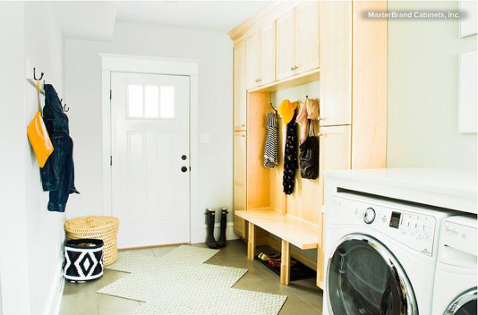 Laundry in Mudroom