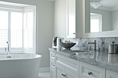 Timeless Bathroom with Quarzite Countertop